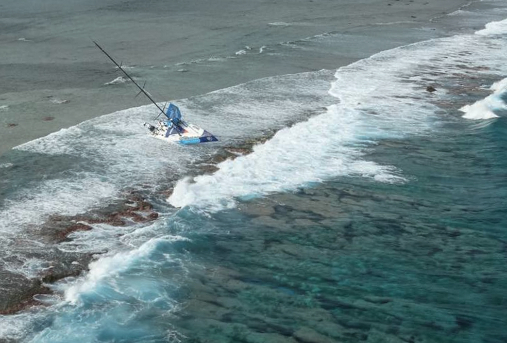 On Saturday, November 29, Team Vestas Wind´s boat grounded on the Cargados Carajos Shoals, Mauritius, in the Indian Ocean.